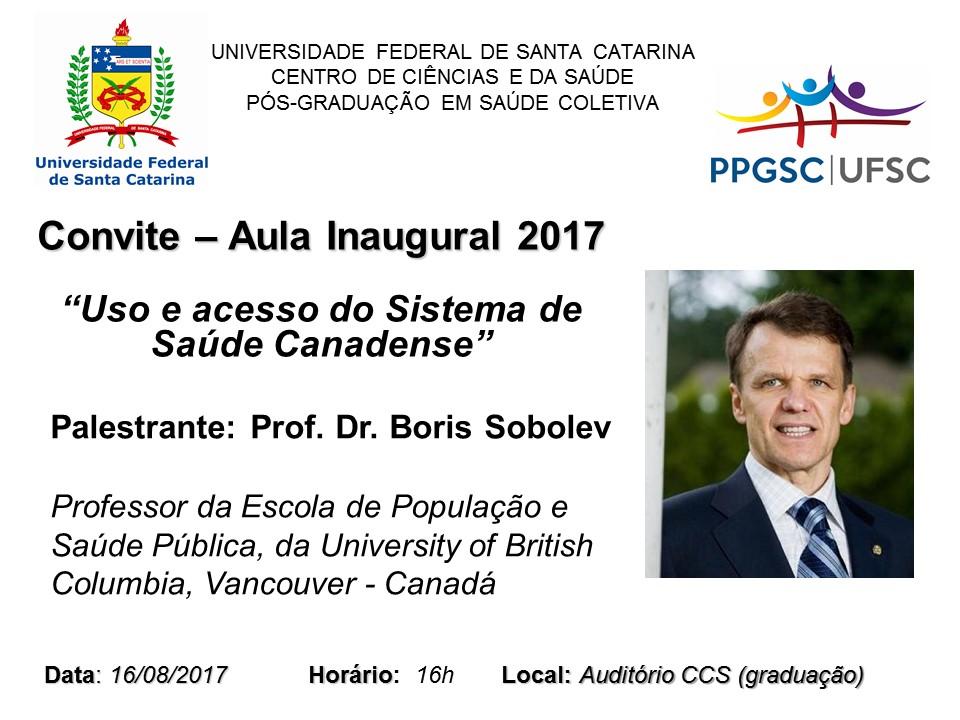 Convite Aula Inaugural Boris Sobolev
